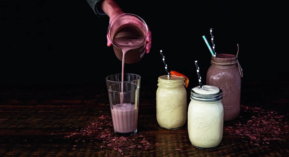 Milkshake (R$20,00), do Cadillac Burger: nos sabores laranja, chocolate oubaunilha; o de chocolate com rum sai por R$ 30,00