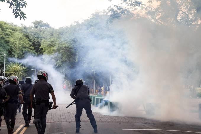 PROTESTO DE ALUNOS E PROFESSORES DA USP DE SÃO PAULO