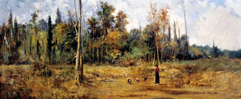 Paisagem de Pádua: pintura de Antônio Parreiras, de 1888: parte do núcleo Paisagens