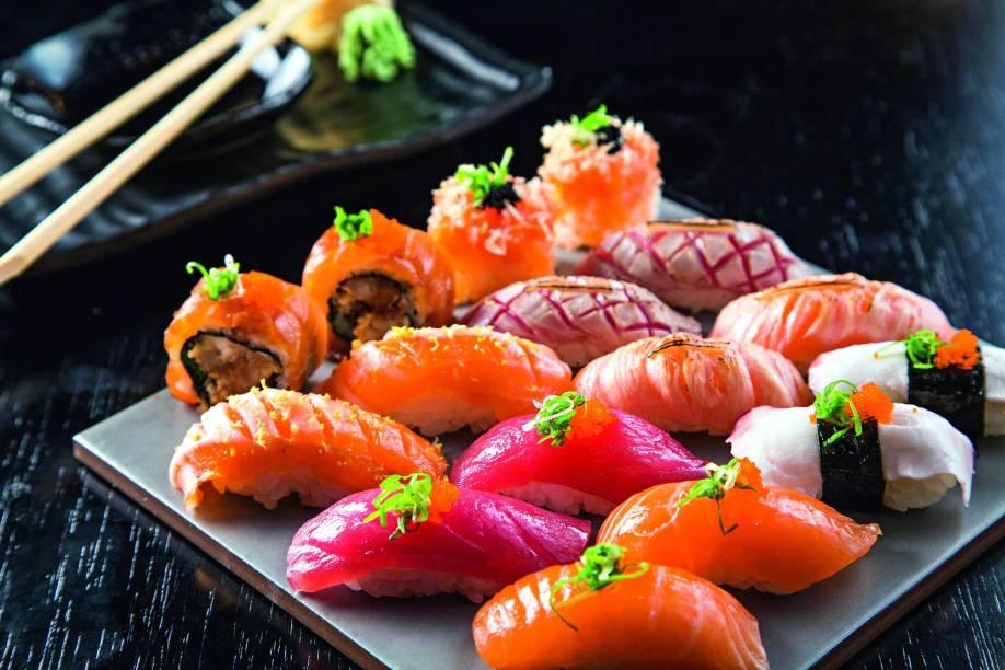 Os sushis variados
