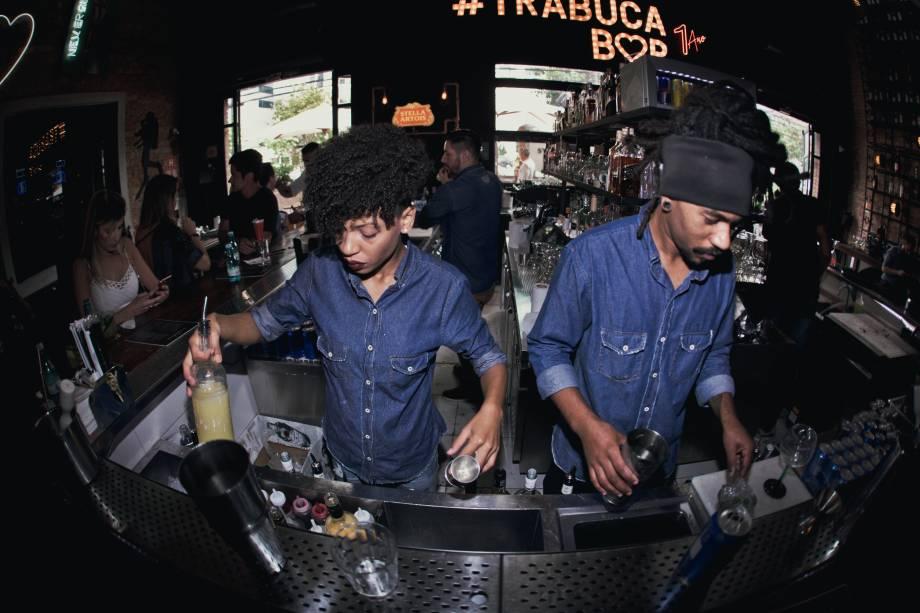 Balcão do bar Trabuca