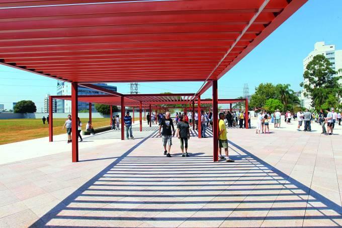 Inauguração do Parque Sabesp Mooca Radialista Fiori Gigliotti na Mooca (SP)