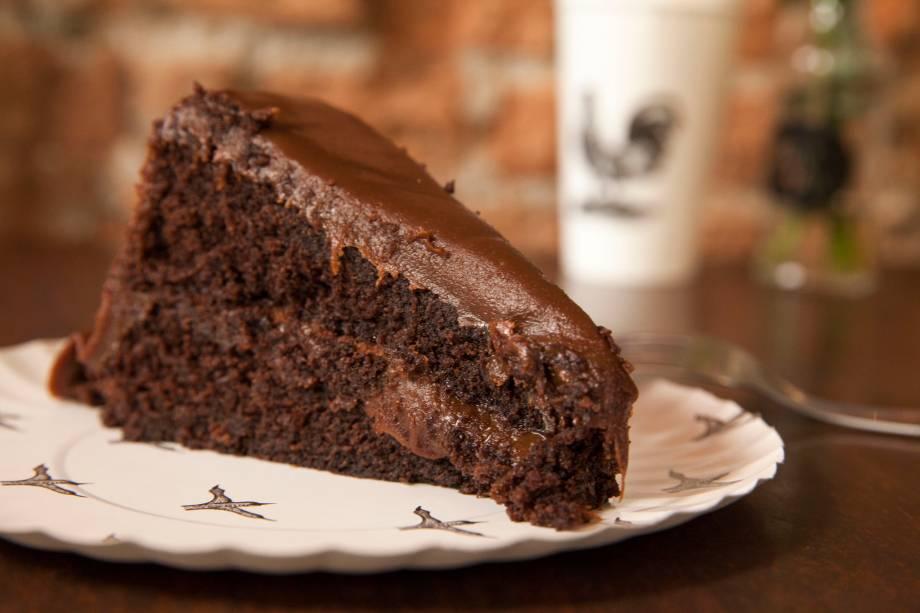 Bolo de chocolate da Padoca do Maní: R$ 15,00 a fatia