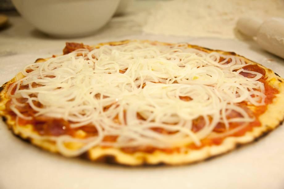 Pizza de calabresa: sugestão da Sala Vip