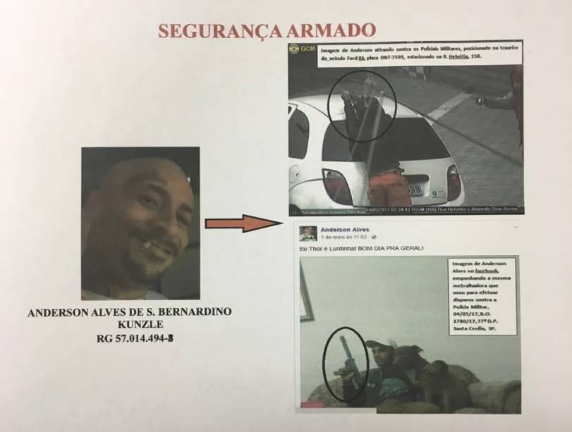 O atirador Anderson Alves responsável por fazer a segurança da área para o PCC; é desertor do Exército