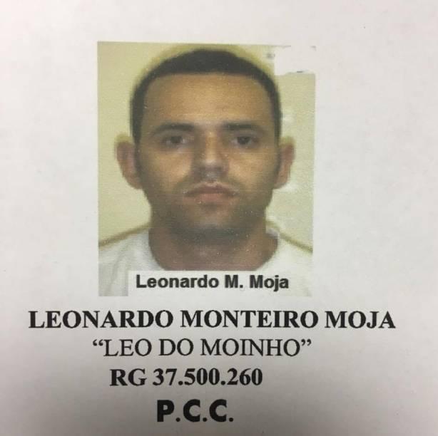 """Leonardo Monteiro Moja, vulgo """"Leo do Moinho"""", considerado o número 2 do PCC na Cracolândia"""