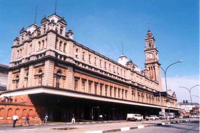 Fachada restaurada do Museu da Língua Portuguesa, no bairro da Estação da Luz.