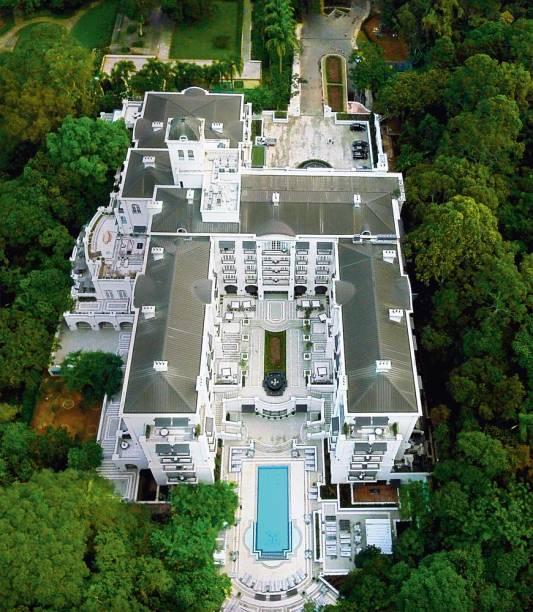 Vista aérea da construção: 30 000 metros quadrados