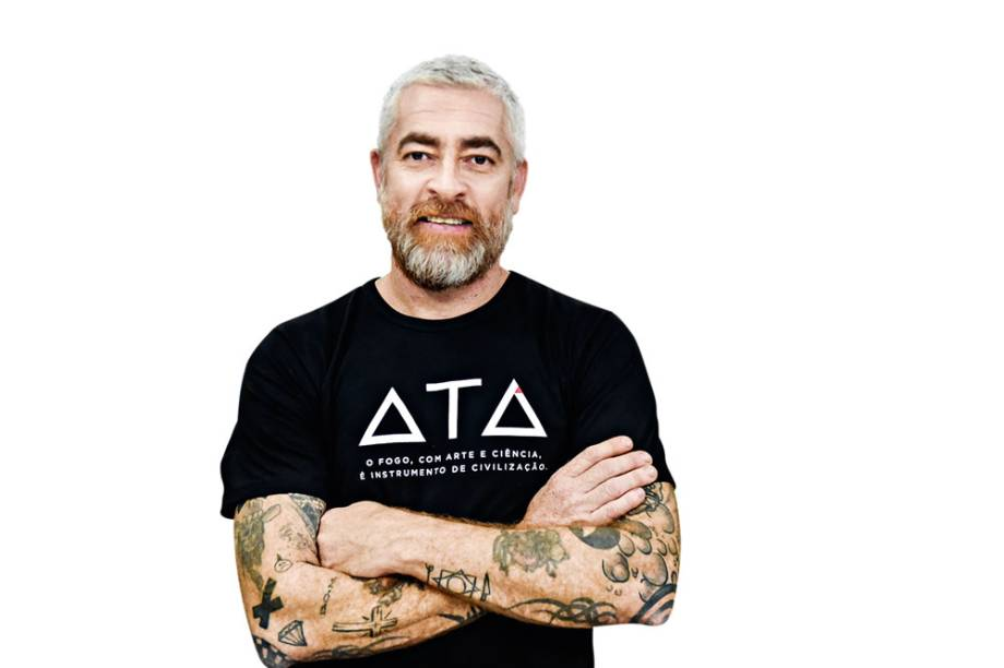 Alex Atala em versão orgânica