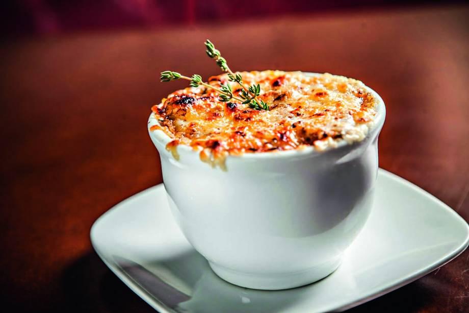 Sopa de cebola: leva queijo emmental