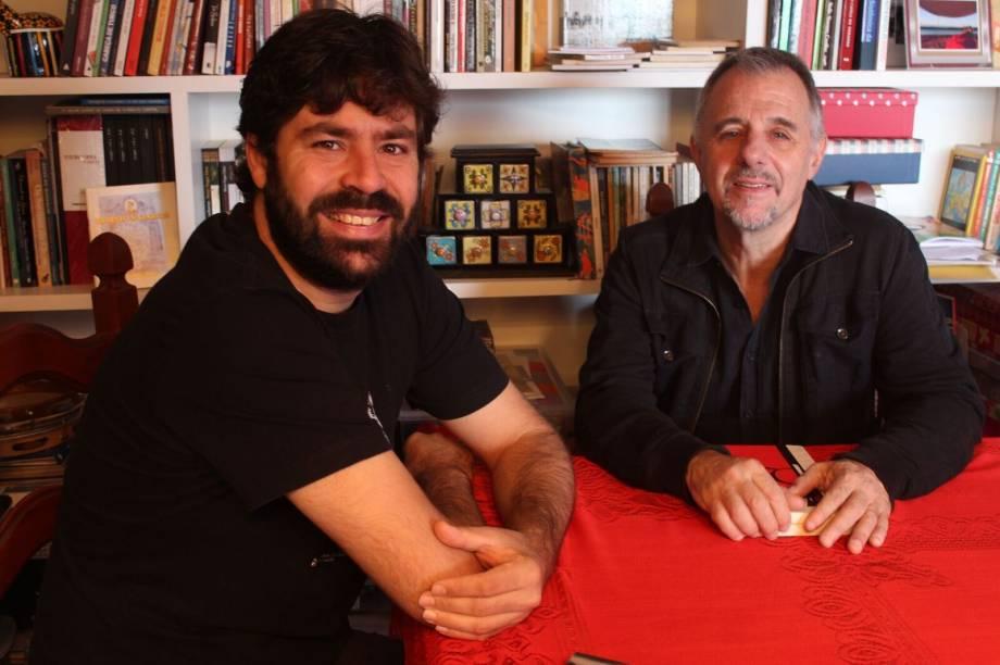 Alexandre Ribeiro (clarinete) e Swami Jr. (violão)