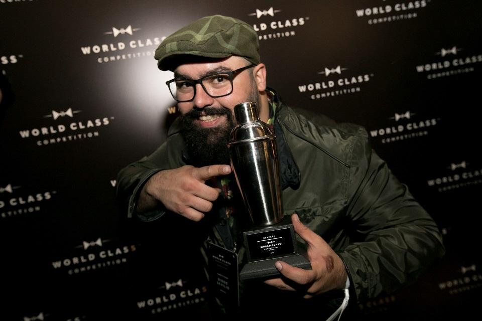 O bartender em 2017: vencedor da final brasileira do World Class