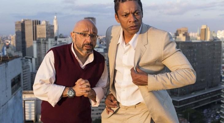 Os atores Ivo Roberto e Nill Marcondes na peça 'Dois por um Fio'