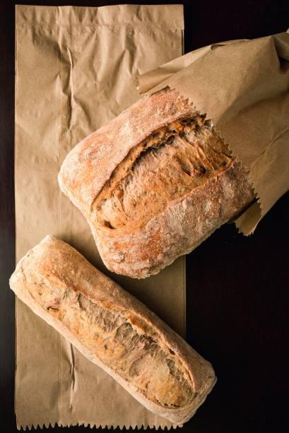 Pães de nozes, com 72 horas de fermentação
