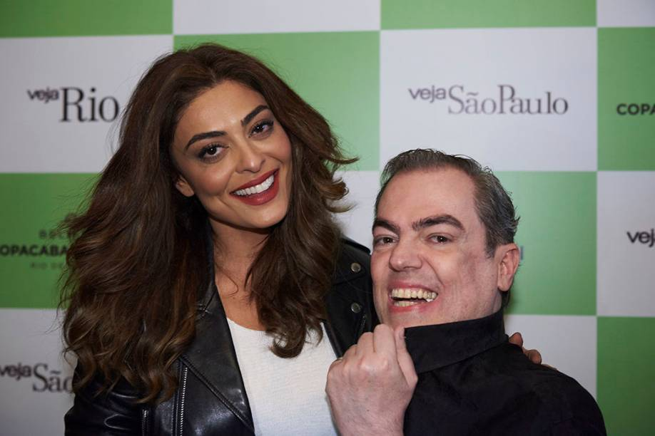 Juliana Paes e Marco Antonio Biaggi: ele a penteou para o ensaio de Playboy, logo quando a atriz despontou para a fama, em 2004