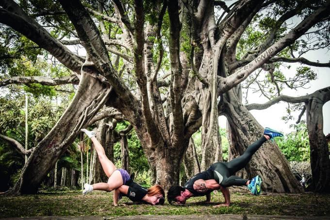 Exerfcício Mahamudra, no Parque do Ibirapuera.