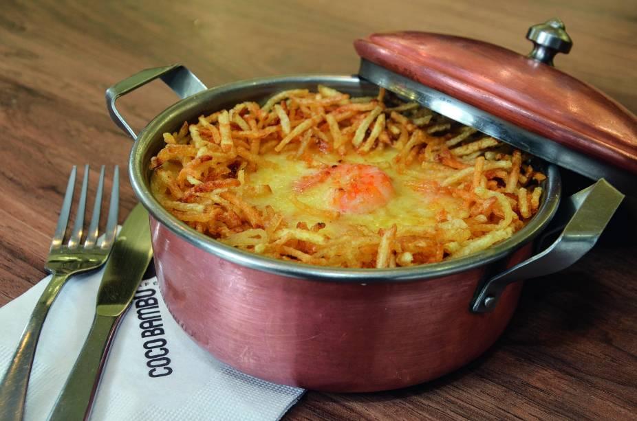 Café Coco Bambu: arroz cremoso com camarão