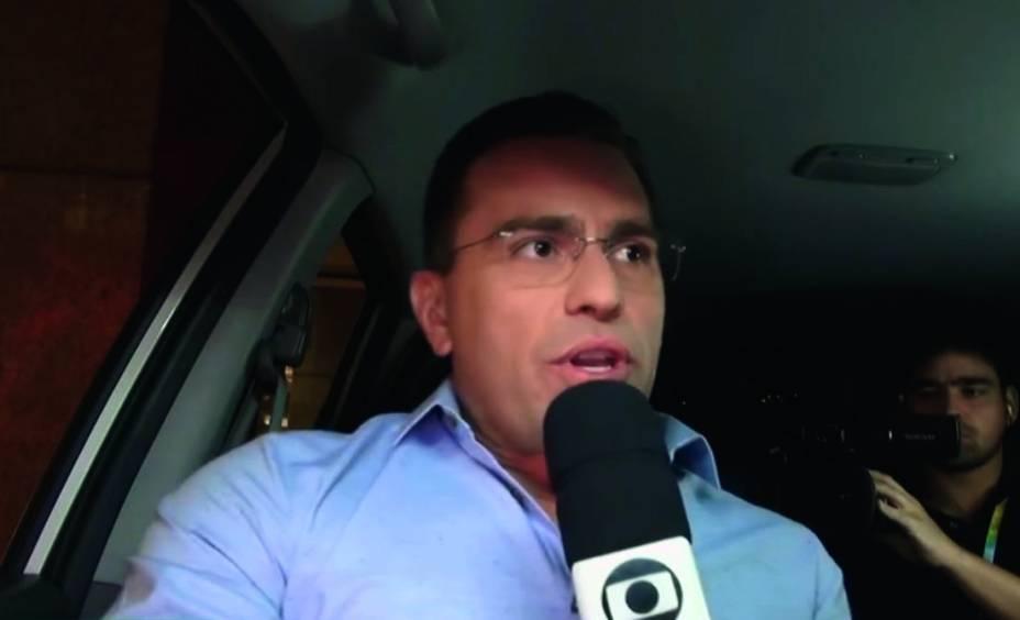 Rodrigo Bocardi: transitou sem cinto de segurança em reportagem