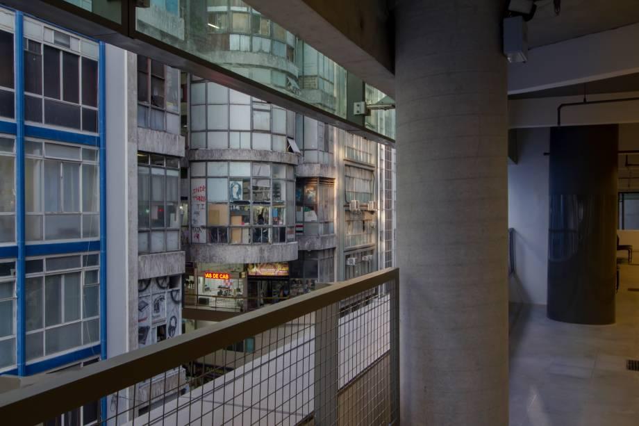 Vista para a galeria do Rock, em frente ao novo Sesc