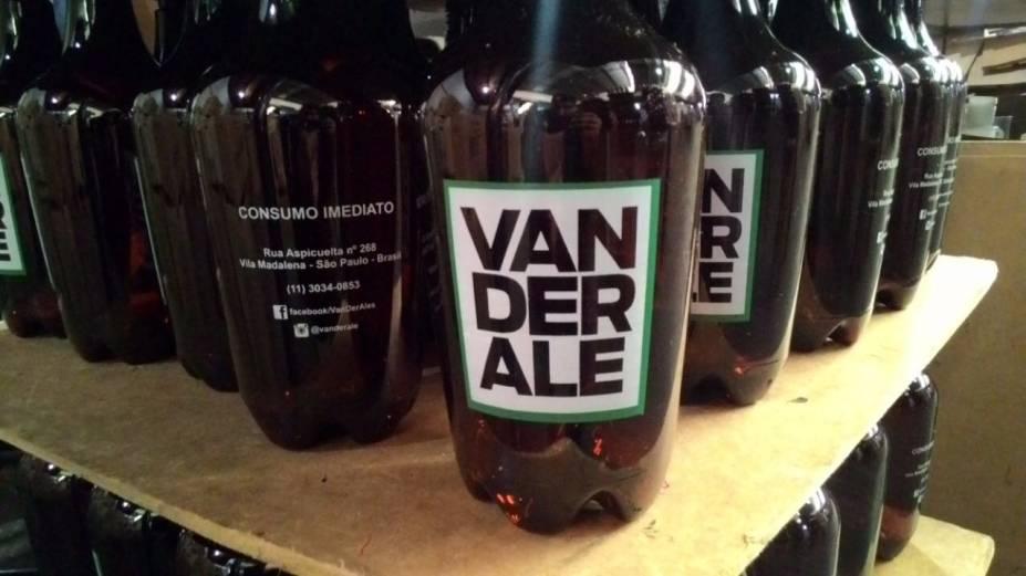 Van der Ale com Pin Head (IPA), Spixi (specialty beer com baru e licuri), Judas Boot (APA), Agroman (pumpking ale) e  Gengiskhan (ginger ale)