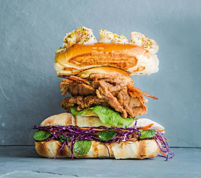 Sanduíche do Town Sandwich Cº