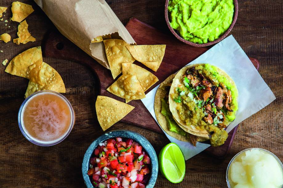 Alguns itens do Taquería La Sabrosa Cocina de México