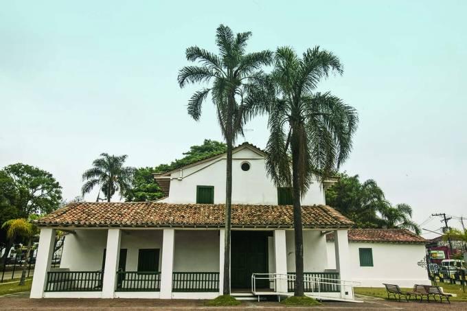 Capela de São Miguel Arcanjo, no bairro de São Miguel Paulista.