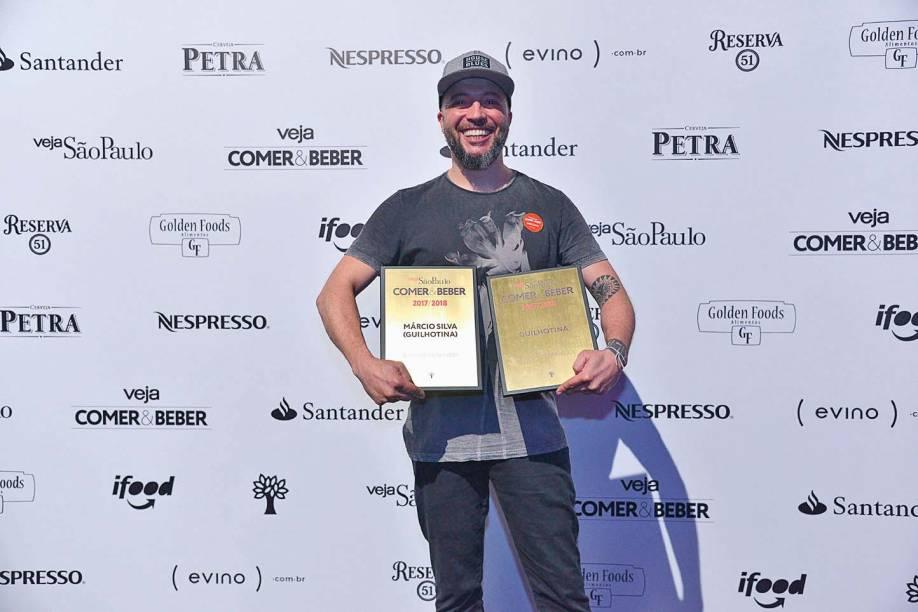 Márcio Silva, do Guilhotina:bartender e carta de drinques