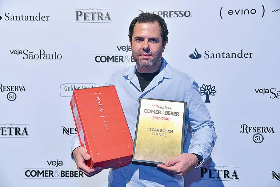 Oscar Bosch: chef do ano pelo trabalho no Tanit