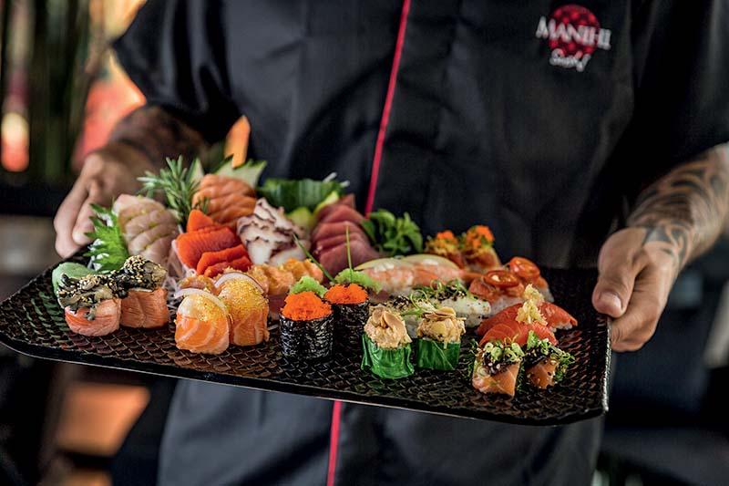 Sushis e sashimis da casa: seleção caprichada