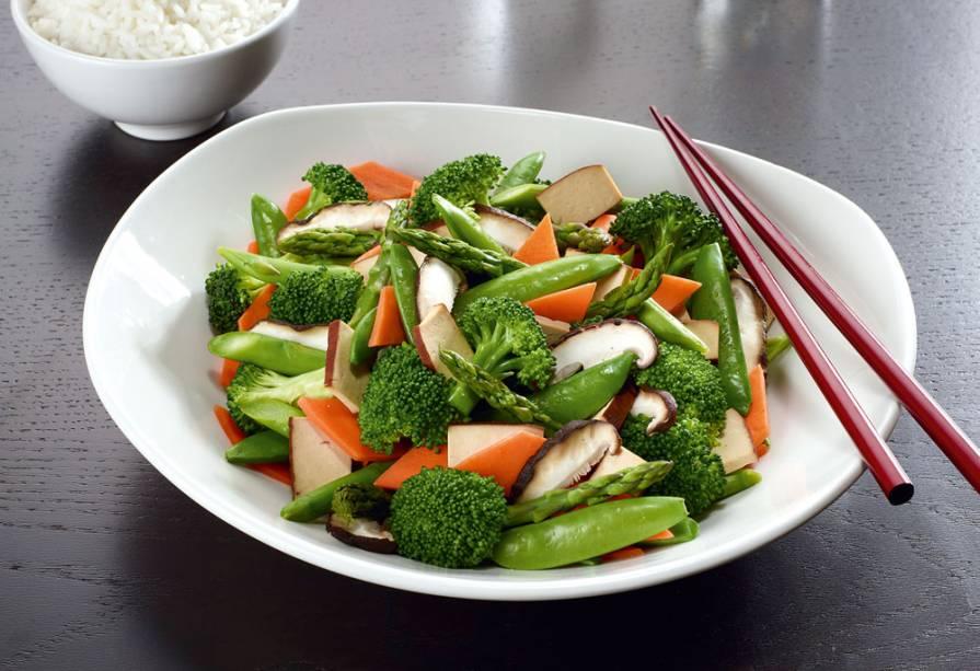 Legumes salteados: sugestão do P.F. Chang's