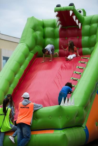 O festival conta com espaço para as crianças
