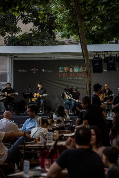 A banda Quadriphonix no palco Alameda