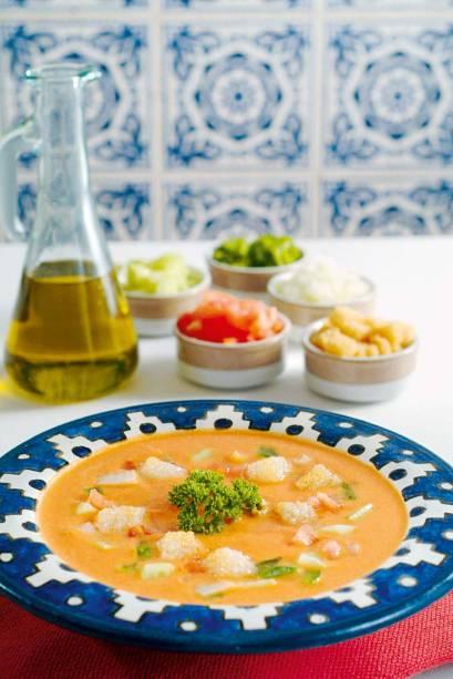 O gaspacho, tradicional receita ibérica