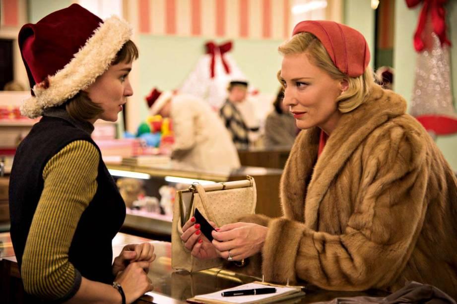 """Rooney Mara e Cate Blanchett no filme """"Carol"""", de Todd Haynes."""