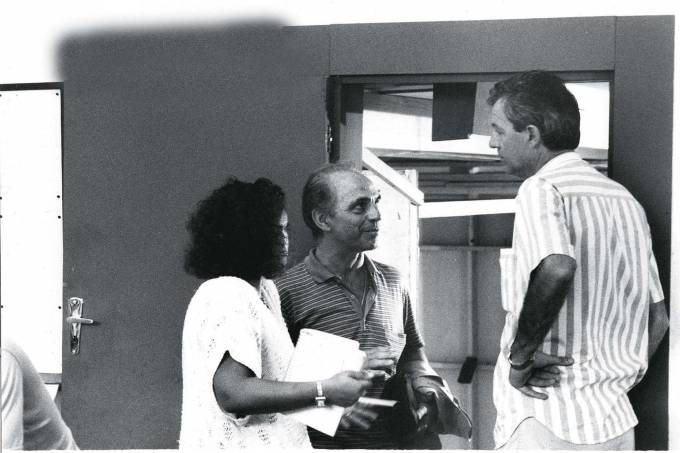 Nello de Rossi, dono do restaurante Nello's, com o cineasta Ugo Giorgetti.