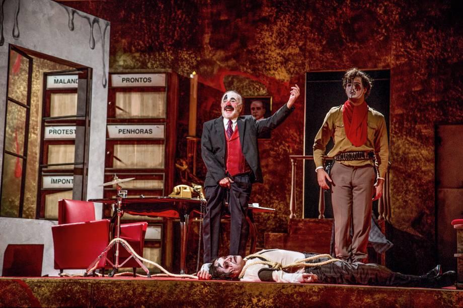 O Rei da Vela: os atores Renato Borghi, Tulio Starling e Ricardo Bittencourt