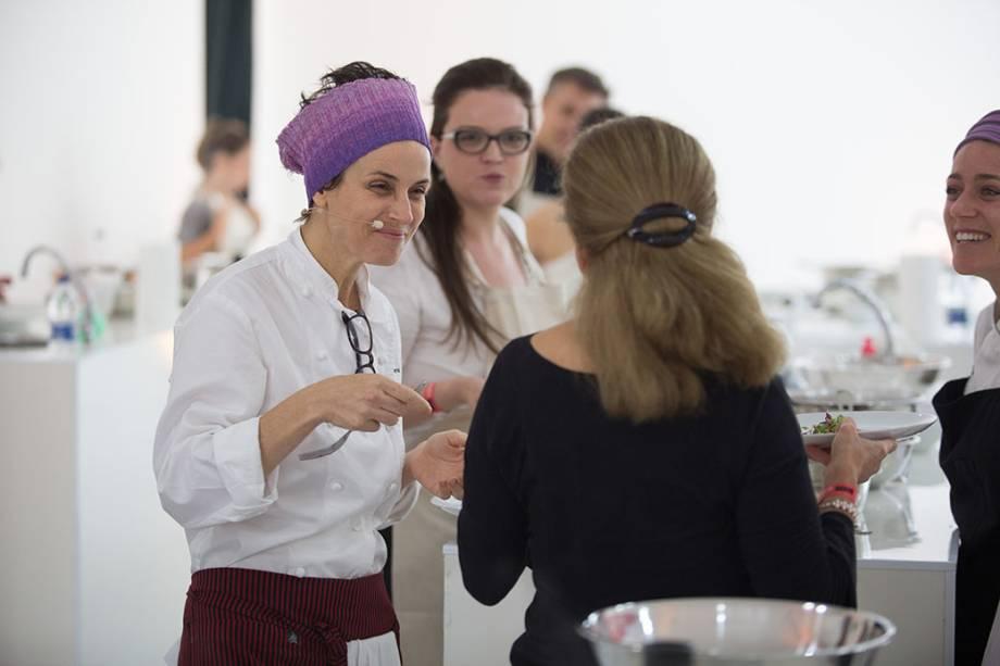 Helena Rizzo: em 2014 escolhida como a melhor chef mulher do mundo, a cozinheira que comanda o Maní deu uma aula de gastronomia