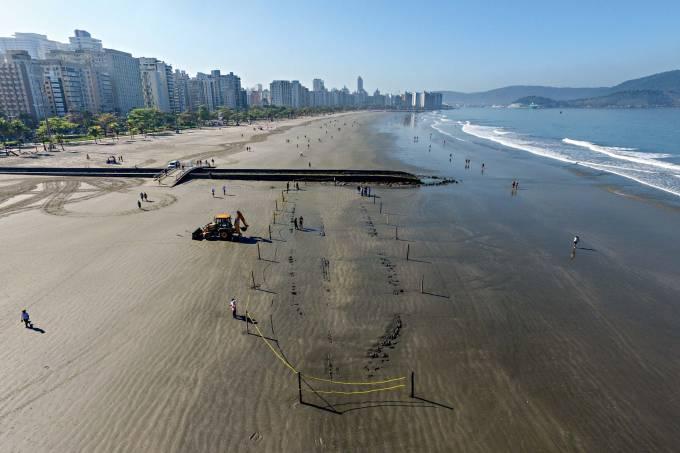 Navio naufragado Santos