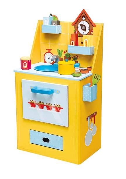 Cozinha de brinquedo com onze acessórios, R$ 479,00. UniqueShop.