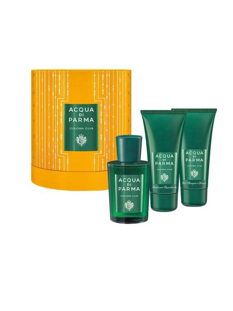 Kit com colônia, xampu e pós-barba Acqua di Parma, R$ 620,00. MG Hair.