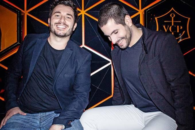 DJ Daniel Prado e o promoter Lucas El'Osta