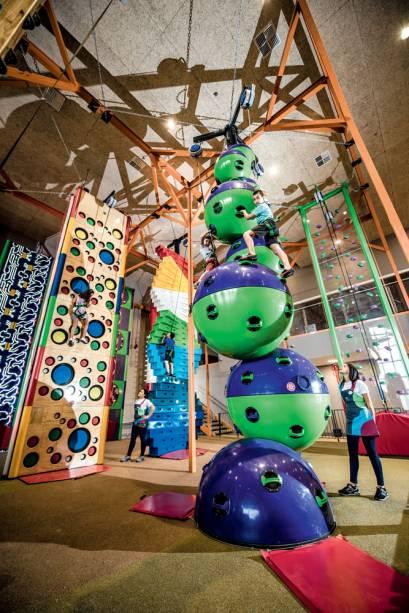O brinquedo para escalada Clip n'Climb: o mais caro do espaço, custa 20 reais