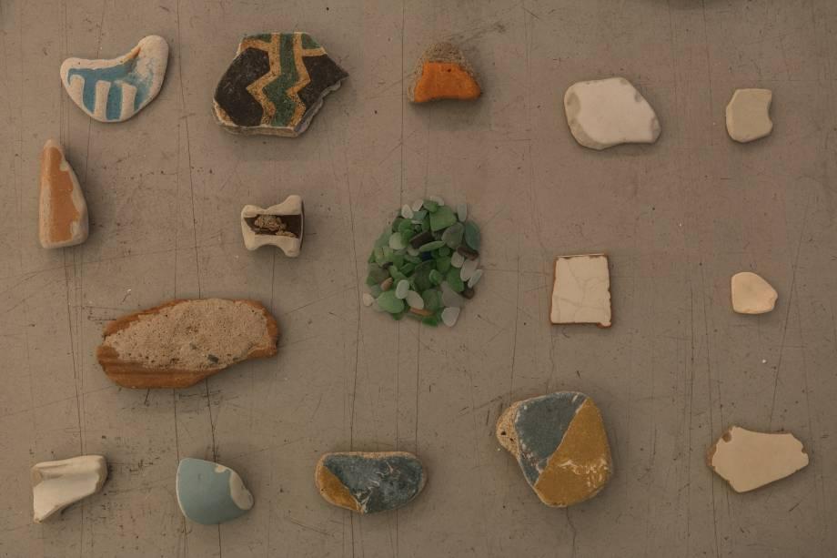 Detritos recolhidos por Filipe Acácio