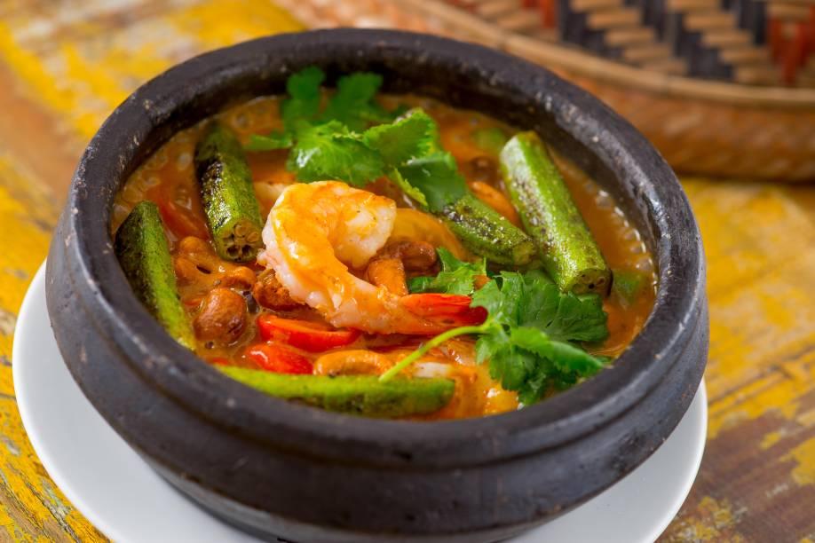 Quiabada com camarão: servida no Jiquitaia