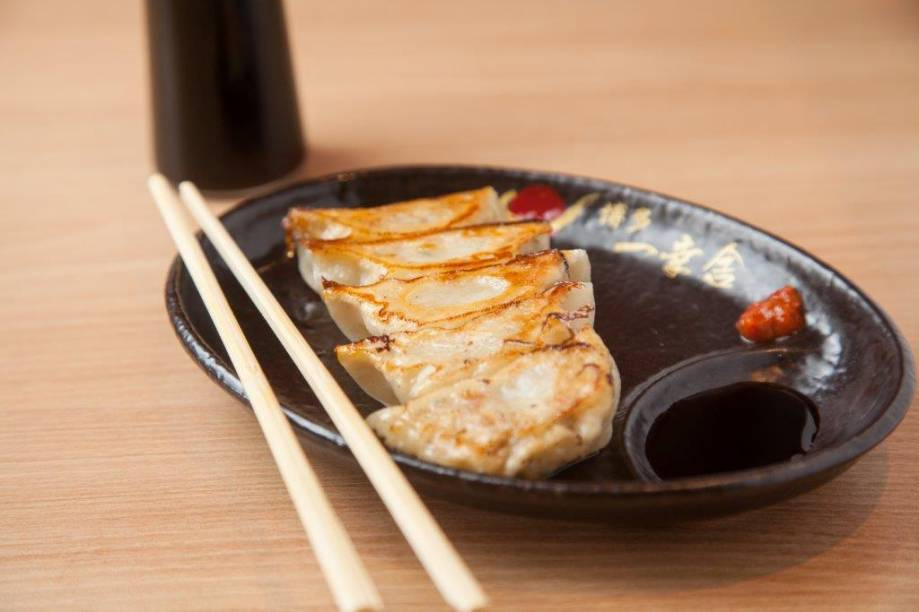 A porção de guioza do restaurante Ikkousha