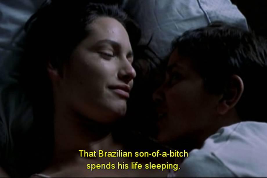 Frames de filmes em que aparecem menções ao Brasil