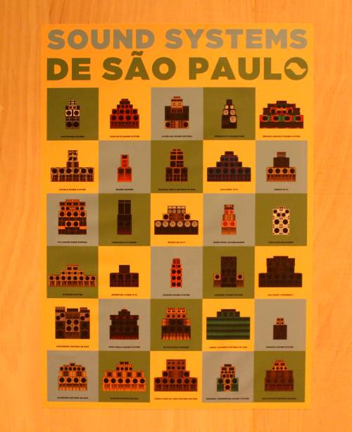 Arte gráfica de Natan Nascimento sobre os sound systems de São Paulo
