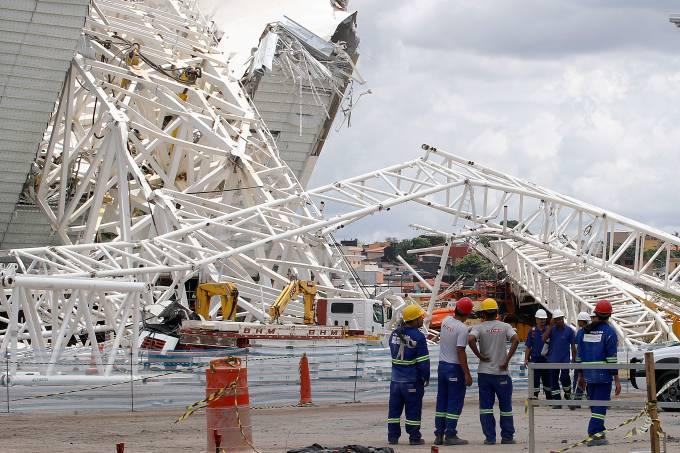 Retomada das obras na Arena Corinthians