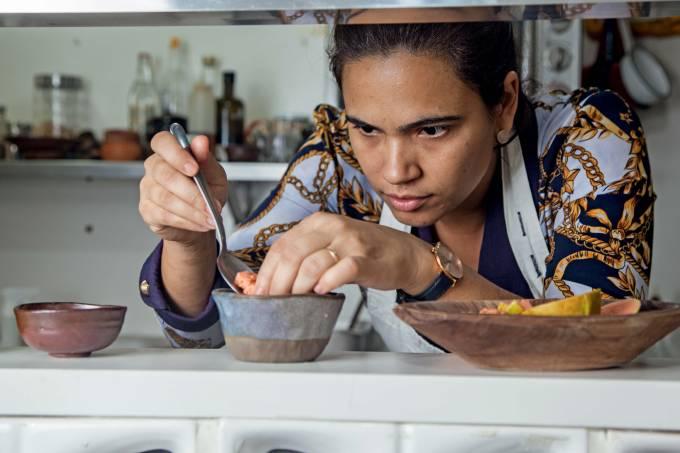 A chef Manuelle Ferraz – A Baianeira